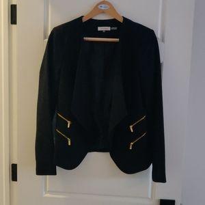 Calvin Klein size 10 open blazer black